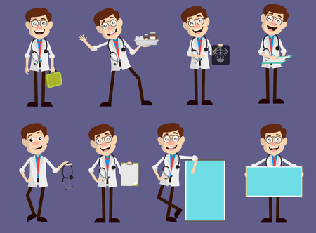 Set of Various Doctor Medical Concepts Vector