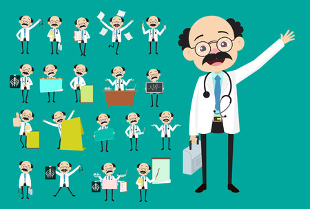 Vector Collection of Many Concepts of Medical Doctor Illustration