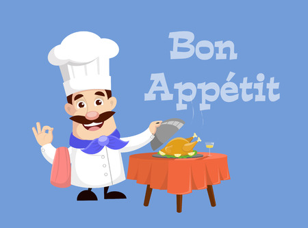 Grill chef Vector Illustration