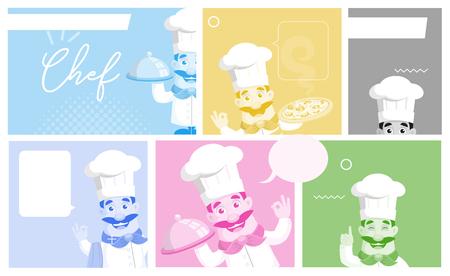 Flat Design various Chef banners Vector Illustration Stockfoto - 102690809