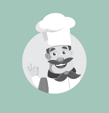 Flat Design executive chef Vector Illustration Ilustração