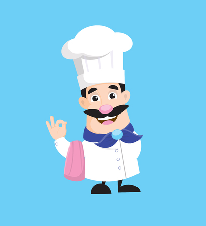 French chef Vector Illustration