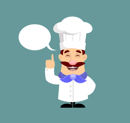 Flat Design French chef Vector Illustration Stock Illustratie