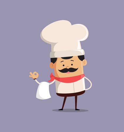 Chef Vector Illustration Design -  circular mascot Иллюстрация