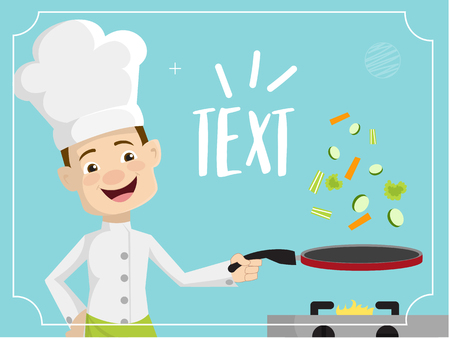 Chef Vector Illustration Design -  with knife