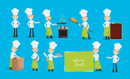 Chef Vector Illustration Design -  Huge set of actions and poses