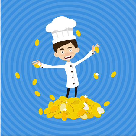 Chef Vector Illustration Design -  rich and earns alot