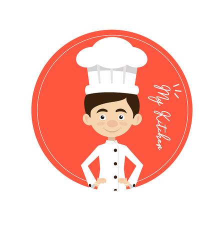 Chef Vector Illustration Design -  circular mascot Illustration