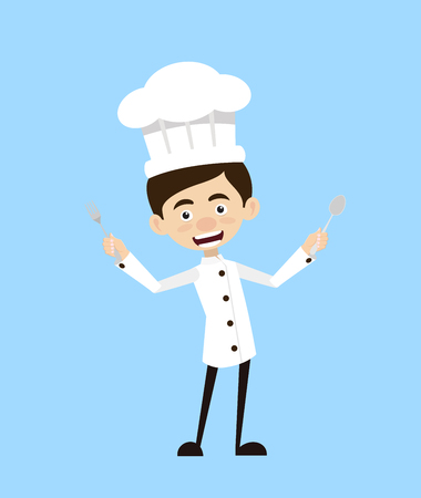 Chef Vector Illustration Design -  with cutlery