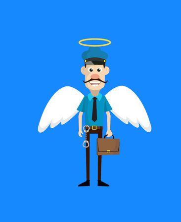 ABC - in Angel Costume Vector