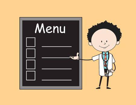 Cartoon Doctor - Presenting Menu List