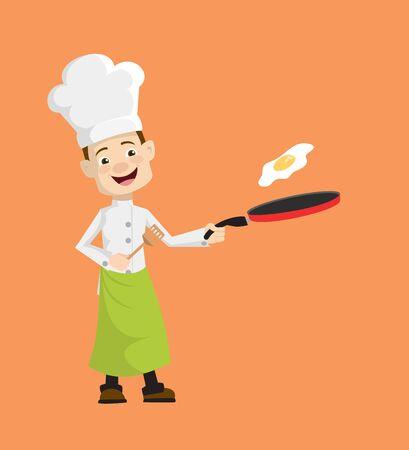 Chef - Preparing Food Stock Illustratie