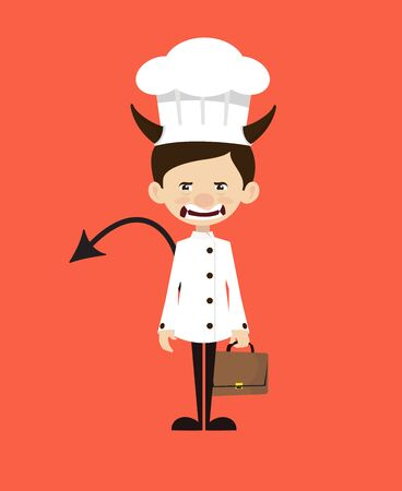 Chef Cartoon - Standing in Angry Mood