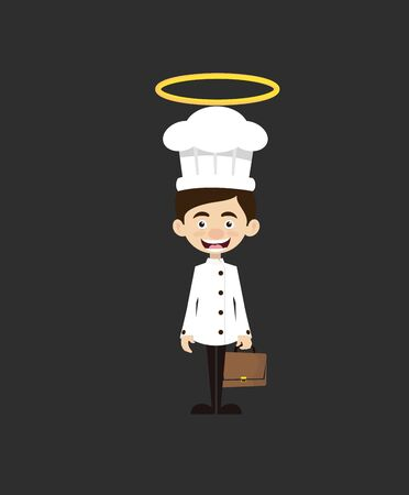 Chef Cartoon - Standing and Smiling