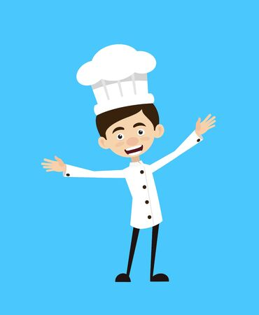 Chef Cartoon - In Cheerful Pose