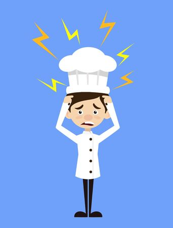 Chef Cartoon - with Worried Face Illustration