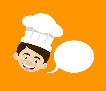 Chef Cartoon - with Speech Bubble