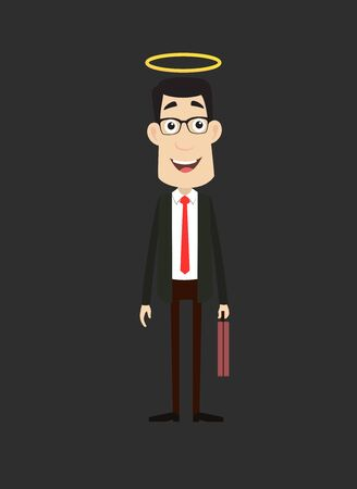 Corporate Business Character - Standing and Smiling Stock Illustratie