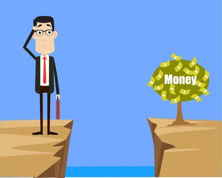 Caractère d'entreprise - Penser comment atteindre près de l'usine d'argent