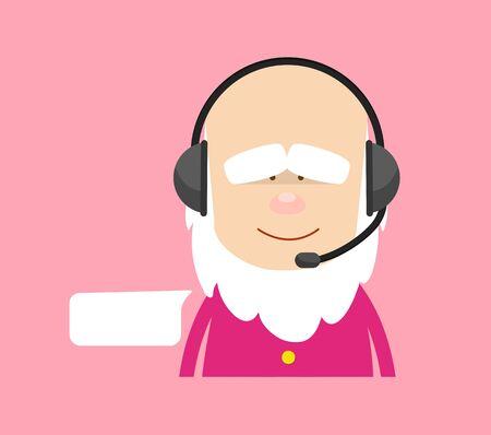 Cute Cartoon Chef - Providing a Customer Service