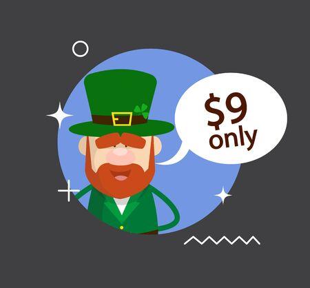 Cute Leprechaun Cartoon - with price