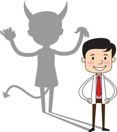 Dentist - Devil person Standing with Fake Smile 向量圖像