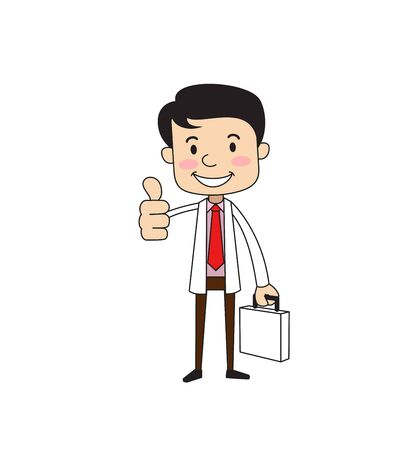 Dentist - Showing a Thumb Up Vector