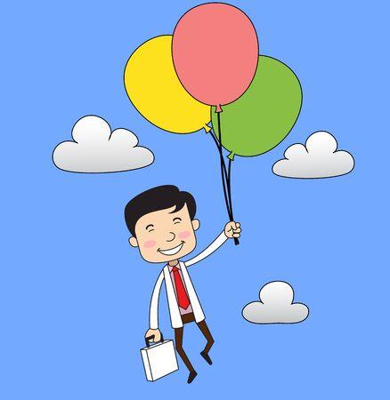 Dentist - Flying with Balloons Illusztráció