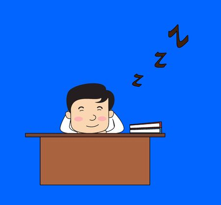 Dentist - Sleeping on Office Desk