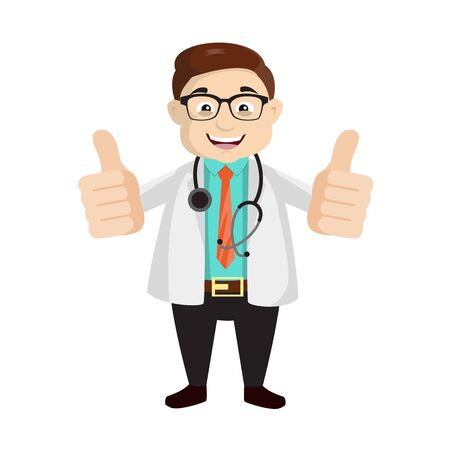 Dermatologist Doctor - Double Thumbs Up Vector