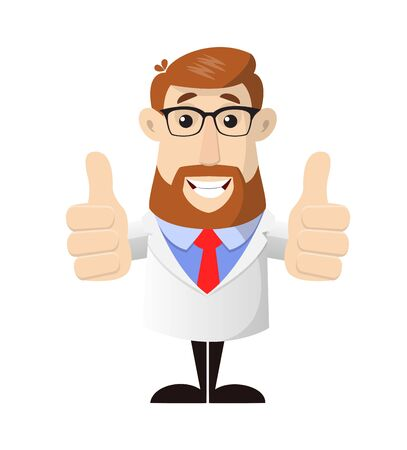 Doctor - Double Thumbs Up Vector