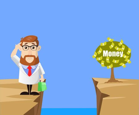 Docteur - Penser comment atteindre près de l'usine d'argent Vecteurs