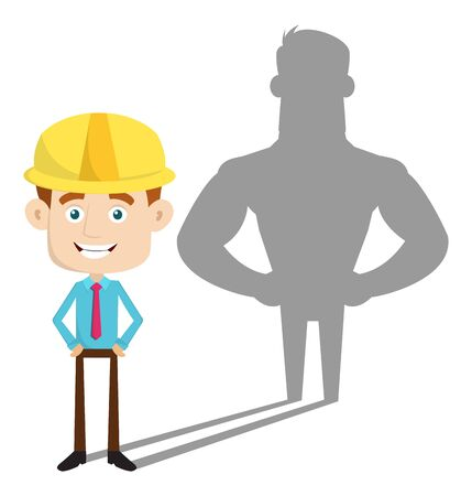 Engineer Builder Architect - Standing in Positive Attitude