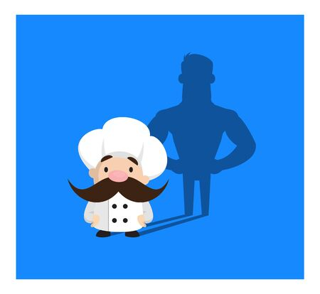 Funny Short Chef - Standing in Positive Attitude