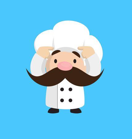 Funny Short Chef - Worried Illustration