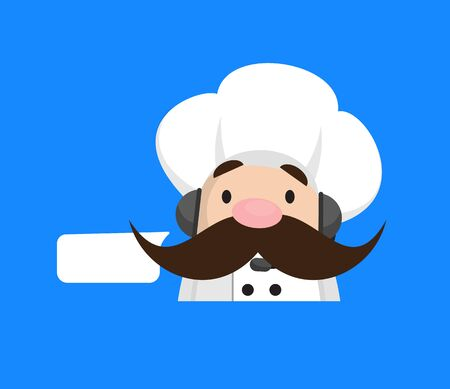 Funny Short Chef - Providing a Customer Service