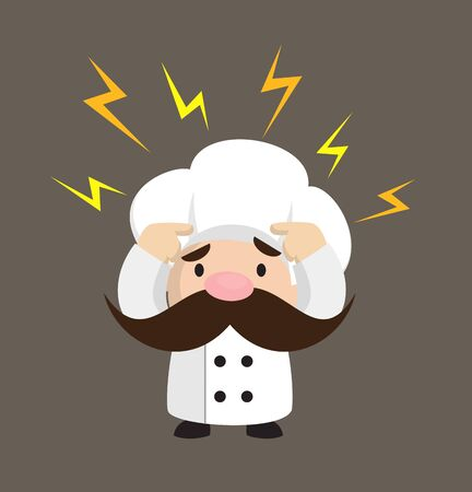 Funny Short Chef - with Worried Face