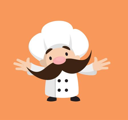 Funny Short Chef - In Cheerful Pose