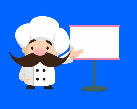 Funny Short Chef - Showing on White Board