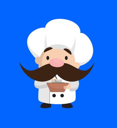 Funny Short Chef - Preparing Report in Happy Mood