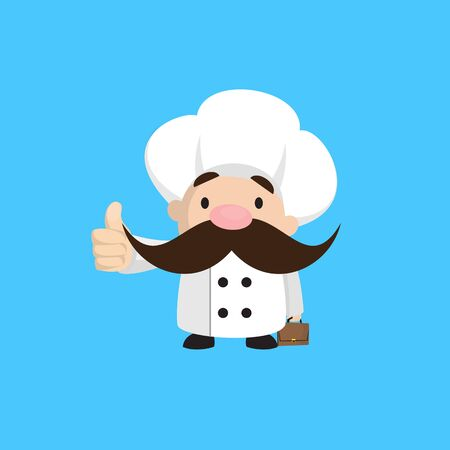 Funny Short Chef - Showing a Thumb Up Vector