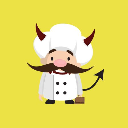 Funny Short Chef - Standing in Angry Mood