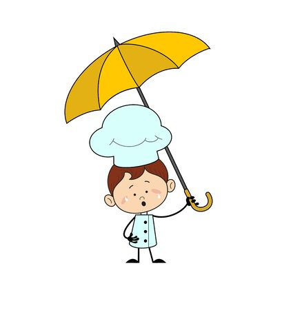 Kitchen Character Chef - Standing with Umbrella