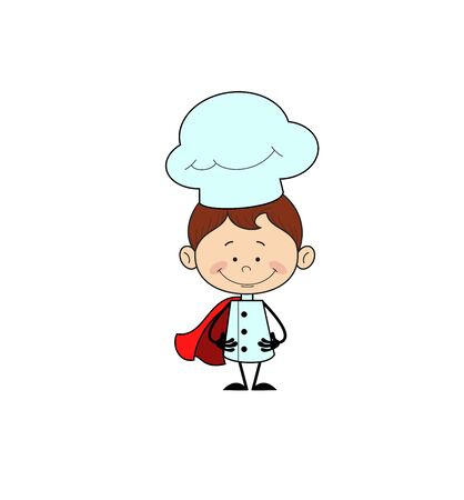 Kitchen Character Chef - In Super Hero Costume