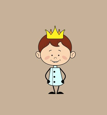 Kitchen Character Chef - Wearing a Crown Vector