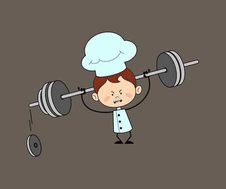 Kitchen Character Chef - Doing Weight Lifting