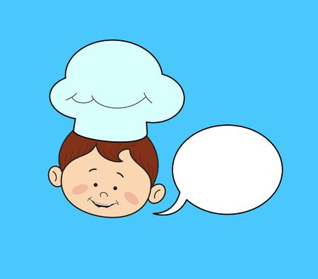 Kitchen Character Chef - with Speech Bubble