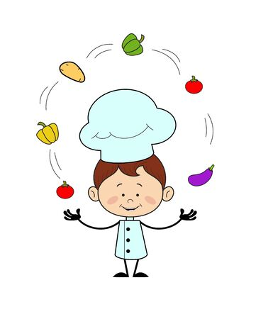 Kitchen Character Chef - Standing with Open Hands