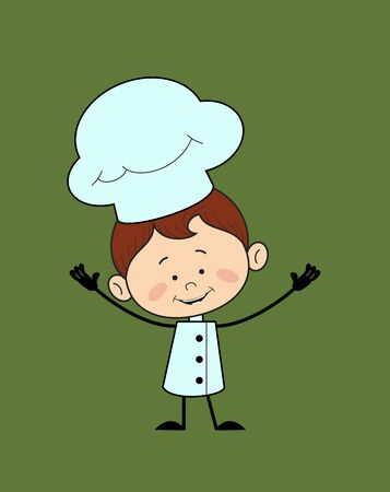 Kitchen Character Chef - In Cheerful Pose