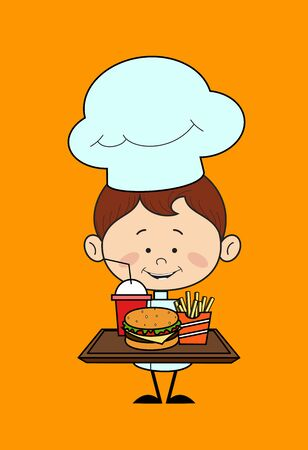 Kitchen Character Chef - Presenting Fast Foods